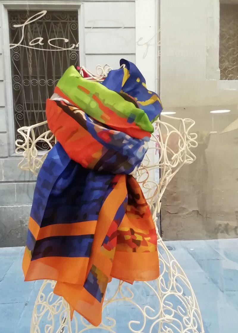 silk-scarve-la-Bufanda-multicolor-orange