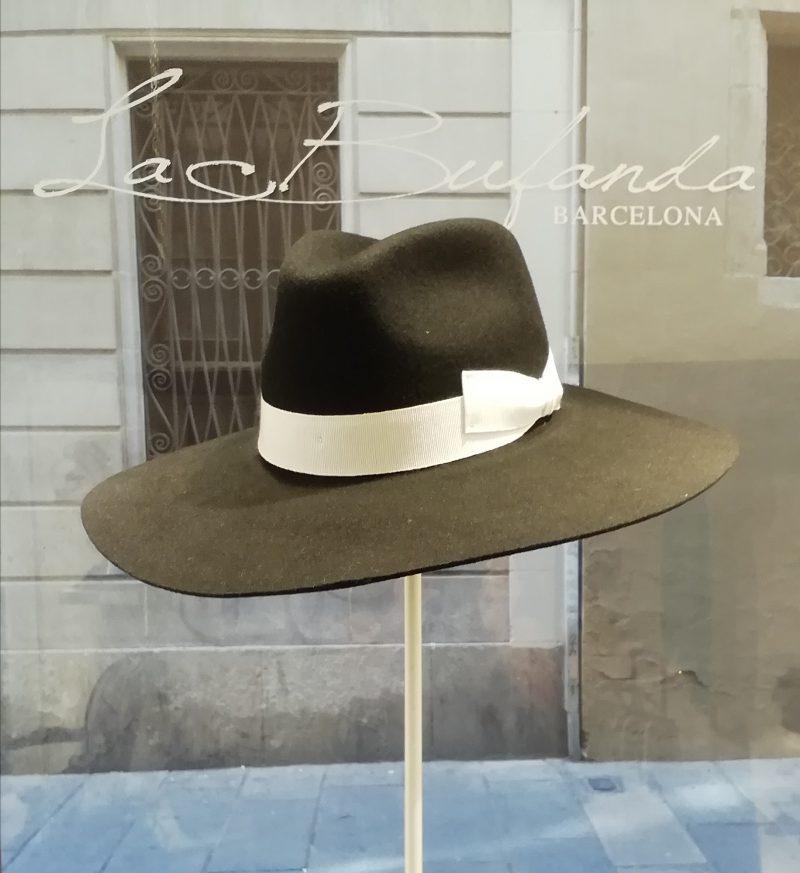 FerruccioVecchi-hat-fedora-lapin-felt-black-withe