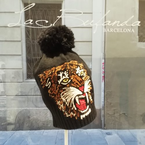 LeChapeau-knitted-hat-handmade-tiger