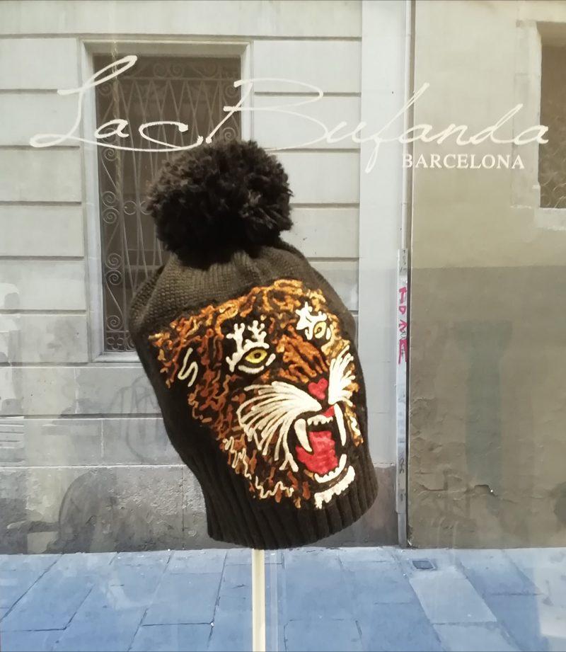 LeChapeau-knitted-hat-handmade-tiger