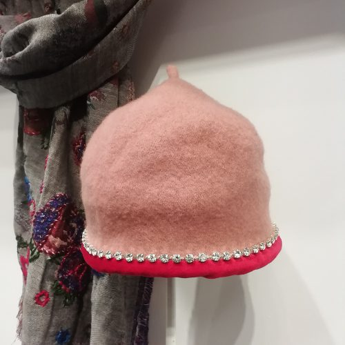 rhinestone-cloche-hat-pink-handmade-lechapeau