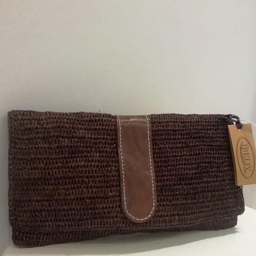 Ibeliv-raphia-handbag-brown